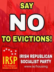 IRSP Belfast stop eviction in the Lower Falls