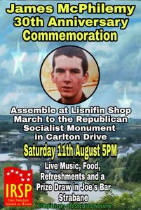 IRSP Remember Vol. James McPhilemy