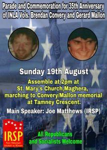 IRSP Remember Vols. Brendan Convery & Gerard Mallon
