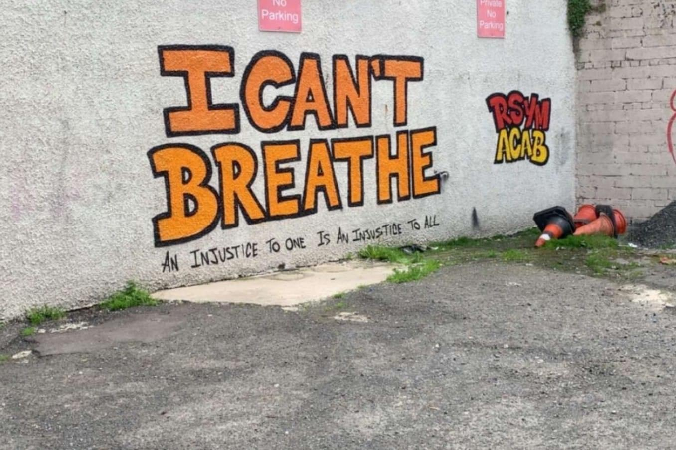 "PSNI arrest activist behind ""I Cant Breathe"" Mural in Derry"