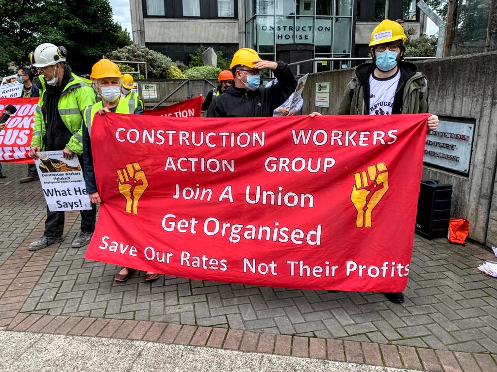 IRSP attend protest at Construction Industry Federation (CIF) Headquarters in Dublin