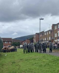 IRSP Slam Anti-Community PSNI Operation in Divis