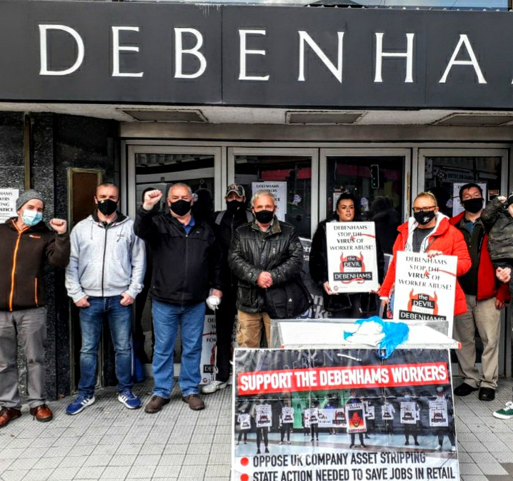 Limerick IRSP show support to Debenhams workers at city centre picket