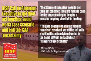 Casement Park: IRSP Call on Stormont To Avoid Worst Case Scenario